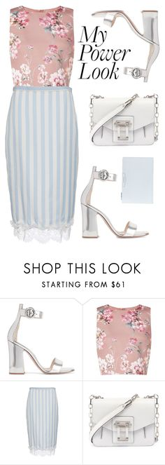 """Power look: mixing patterns"" by kika-lv ❤ liked on Polyvore featuring Gianvito Rossi, Miss Selfridge, Rochas, Proenza Schouler and Givenchy"