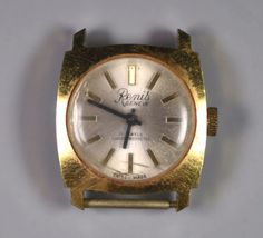 Renis Watch Vintage Stainless Steel Watch Vintage Swiss Made Watch Vintage Swiss Swiss Made Watches, Square Watch, Stainless Steel Watch, Vintage Gifts, Vintage Watches, Luxury Watches, Rolex, Watches For Men, Jewels