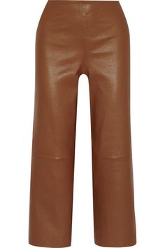 Striped: Pants, By Malene Birger, Leather Trousers, Burnt Beige Trousers,  / Garance Doré