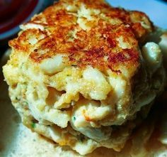 Cassandra's Favorite Recipe for Maryland Crab Cakes - See! Now THIS is a crab cake.it's a big ol' honkin' ball of crab deliciousness - with minimal breading. Maryland laughs at doughy kinda crabby hockey puck crab cakes and you should too! Crab Cake Recipes, Fish Recipes, Seafood Recipes, Cooking Recipes, Lump Crab Meat Recipes, Crab Cakes Recipe Best, Ina Garten Crab Cakes Recipe, Blue Crab Recipes, Sauces