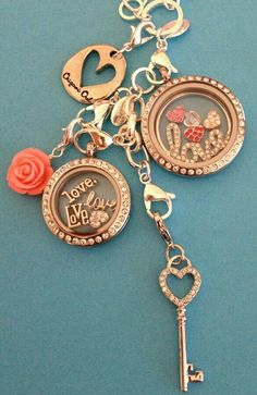Customize your own locket!! Make it about your life! Necklaces & bracelets available!!! http://ashleycollins.origamiowl.com