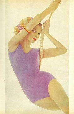 Purple leotard From Mademoiselle, April 1961
