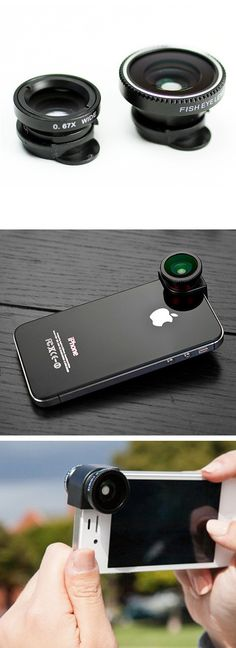 Clip on lenses for your iPhone - Wide, Fish Eye, and Macro $10