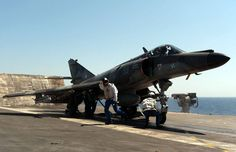 Flying War Machines French Navy Super Etendard aboard the French aircraft carrier Charles De Gaulle.