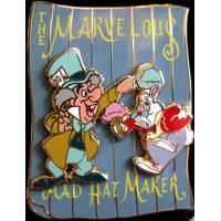 Pin 96590 DSF - Circus Poster Series - Mad Hatter and White Rabbit