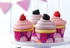 #Recette: Petits gâteaux à la vanille, glaçage aux petits fruits #maman