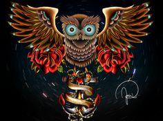 Oldschool Owl on Behance