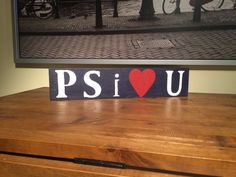 Penn State University, PSU, Happy Valley, PS I Love You, Rustic, Reclaimed, Wood Sign, Home Decor, Dorm Room Decor, Nittany Lions, PA