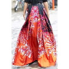 [Boutique]print high waisted maxi skirt This gorgeous vibrant printed maxi skirt can easily go from day to night. Details: maxi length, polyester, back zipper with a-line styling. No PayPal + No Trades. Skirts Maxi