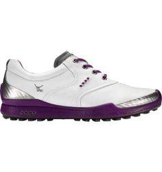 Ecco Golf Shoes for Women | ECCO Women's BIOM Hybrid Golf Shoe - White/Purple