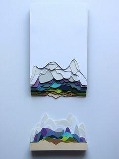 Resultado de imagen para dioramas de corte de papel