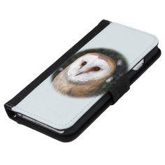 Bright Eyed Owl iPhone 6/6s Wallet Case also for Samsung Galaxy models #wildbird #BirdOfPrey #bird #wildlife