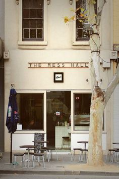 The Mess Hall-Italian food restaurant serves breakfast, lunch and dinner.  Bourke Street (exhibition street)