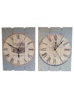 Printed Wooden Clock @ rosefields.co.uk