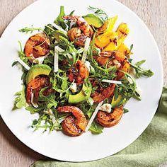 Quick and Easy Summer Salads | Lemony Grilled Shrimp Salad | MyRecipes