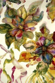 Pintura de seda por Cathy Rozzelle: