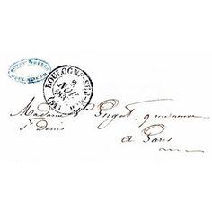 Vintage Ephemera Clip Art Paris Letter with Postmark