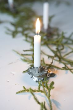German Christmas tree candle holder.