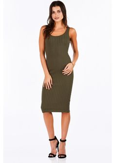 You can never go wrong with a sleek ribbed midi dress. Perfect for casual wear but also great for...