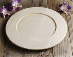 11.00 SALE PRICE! Bring eco-friendly beauty to your décor with this simple saucer. The Wood Plate is a unique foundation for a dinner plate, or as the base o...