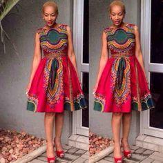 Angelina African Female Dashiki Dress by AFRICANISEDSHOP on Etsy https://www.etsy.com/listing/224828145/angelina-african-female-dashiki-dress