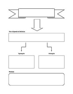 Blank Vocabulary Flow Chart    All Grades