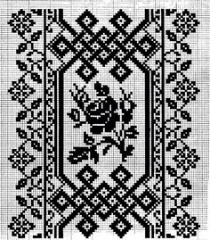 І Blackwork Embroidery, Folk Embroidery, Embroidery Patterns Free, Cross Stitch Embroidery, Quilt Patterns, Cross Stitch Borders, Cross Stitch Flowers, Cross Stitch Designs, Cross Stitching