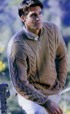 πουλόβερ ανδρών με φερμουάρ