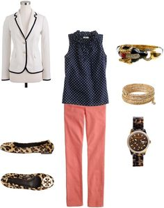 """""""Polka Dots & Leopard"""" by michelle-5559 ❤ liked on Polyvore"""
