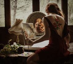 """""""I am your mirror and here are the stones"""" Rumi (quote) • photograph by Chiara Fersini"""
