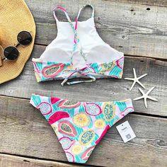 Cupshe Fruit Salad Print Bikini Set