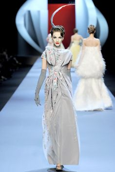 This proved to be John Galliano's last Haute Couture collection for the House of Dior | Spring 2011 | He called it his most technically challenging collection, but the effort was rarely obvious.
