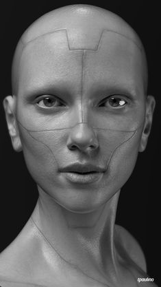 Checkpoint render to evaluate texture development! Still much to improve. Head Anatomy, Anatomy Drawing, Cyberpunk Character, Cyberpunk Art, Zbrush, Anatomy Reference, Art Reference, 3d Modelle, Modelos 3d