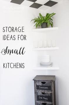 storage ideas for small kitchens spaces