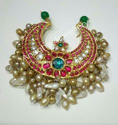 Gold Ruby Pendant From Anagha Jewellery