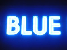 'BLUE'                                                                                                                                       NEON SIGN                                                                                                                   ๑෴MustBaSign෴๑