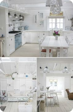 Should I paint the whole place white???  pinned from:  white cottage love @ Julie Beach