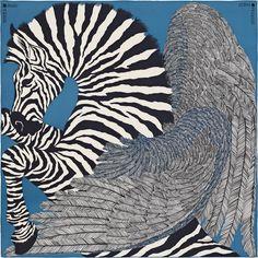 Zebra Pegasus - Teal Blue