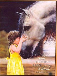 "(ABC982326-1W34-KSS) ""The Kiss"" Western Horse Art"
