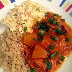 レシピとお料理がひらめくSnapDish , 8件のもぐもぐ , pineapple bbq chicken thighs with hawaiian macaroni salad yum by Patty German