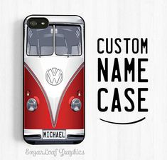 Volkswagen Bus iPhone Case Personalized First by SugarloafGraphics, $15.95