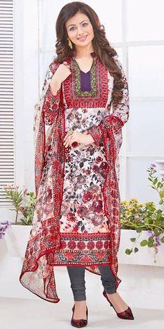Ayesha Takia Salwar Kameez in Red Color.