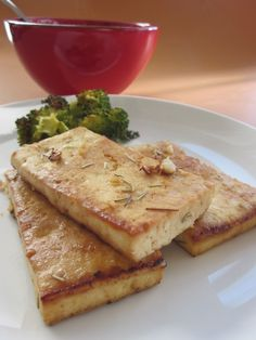 Lemony Baked Tofu with Rosemary (and How to Press Tofu to allow it to really soak up marinades and turn out great!)