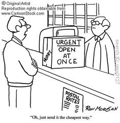 postal cartoon, stock cartoon