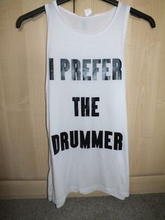 shirt h&m i prefer the drummer drummer white loose fit loose shirt white tank top