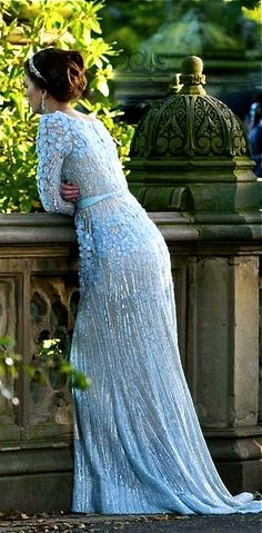 Leighton Meester as Blair Waldorf in Elie Saab for her wedding to Chuck Bass, Gossip Girl Estilo Blair Waldorf, Blair Waldorf Style, Blair Waldorf Wedding, Elie Saab Couture, Leighton Meester, Pretty Dresses, Beautiful Dresses, Estilo Gossip Girl, Ed Westwick