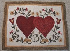 Hearts Entwined Rug Hooking Pattern