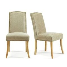 Set of 2 Knightsbridge Dining Chairs in Fudge