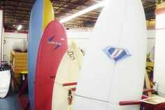 Surf boards.