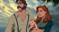 """Tarzan's Dad: """"You guys, Tarzan's dad is really attractive. And that mustache is really something."""""""